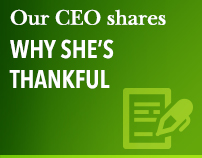 Our CEO shares why she's thankful