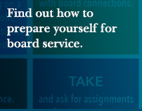 Find out how to prepare yourself for board service.