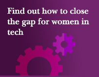 Find out how to close the gap for women in tech