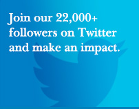 Join our 22,000+ followers on Twitter and make an impact.
