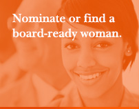 Nominate or find a board-ready woman.