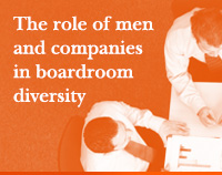 The role of men and companies in boardroom diversity