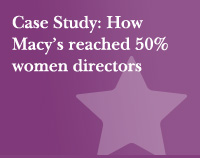 Case Study: How Macy's reached 50% women directors